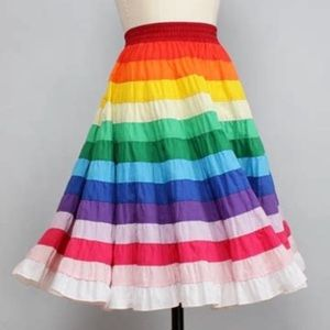 Rainbow Square Dance Skirt square up fashions sz L